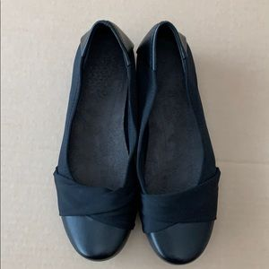 Woman's black slip on shoe